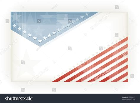 Us American Flag Themed Background Business Stock Vector