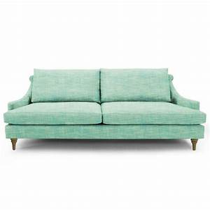 Vintage base mint green kensington sofa for Mint green sectional sofa