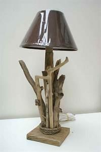 Petite Lampe De Chevet : petite lampe de chevet en bois lampe poser grise triloc ~ Teatrodelosmanantiales.com Idées de Décoration