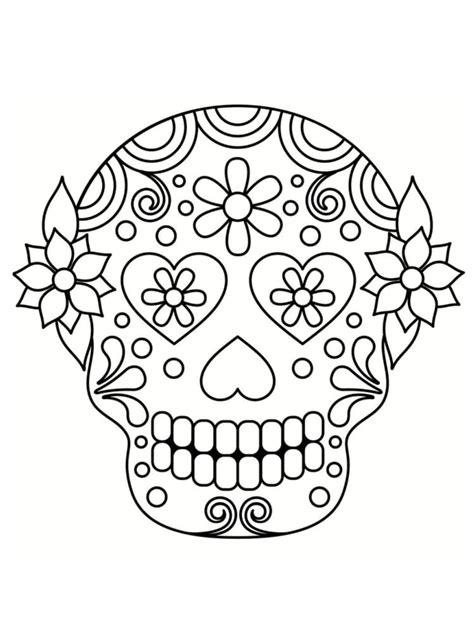 dessin tete de mort mexicaine coloriage t 234 te de mort mexicaine 20 dessins 224 imprimer