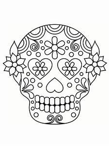 Crane Mexicain Dessin : coloriage t te de mort mexicaine 20 dessins imprimer ~ Melissatoandfro.com Idées de Décoration