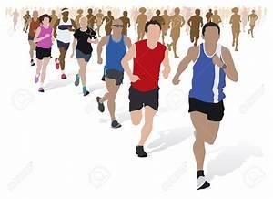 Marathon Running Clipart - ClipartXtras
