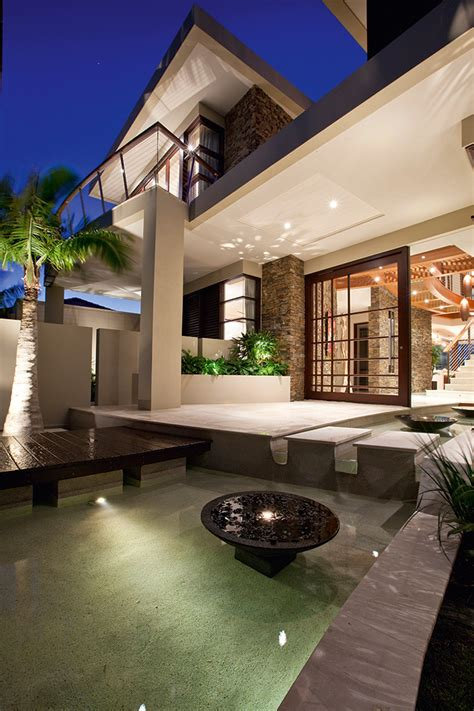 contemporary waterfront island home   tropical resort style design idesignarch interior