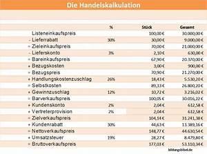 Excel Umsatzsteuer Berechnen : vorw rtskalkulation kalkulationsschema ~ Themetempest.com Abrechnung