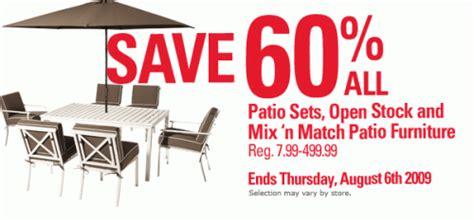 canadian deals zellers 60 patio sets open stock