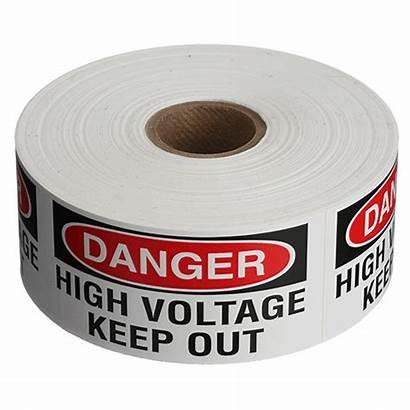 Labels Roll Keep Voltage Danger Safety
