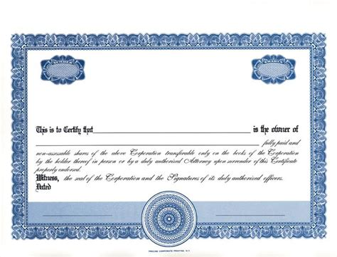 sharestock certificate template word