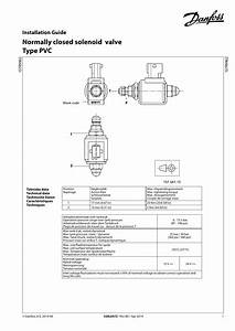 Danfoss Pvc Normally Closed Solenoid Valve Guide D