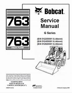 Bobcat 763  763hf Loaders G Series Service Manual Pdf