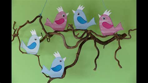 vogel basteln aus papier tiere basteln aus papier v 246 gel birds wohn und zweigdeko