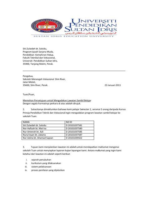 surat rasmi  pengetua sekolah rasmi