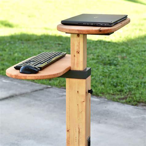 diy standing desk adjustable  mobile  plan diy