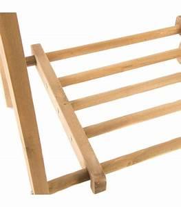 Portant Vetement En Bois : portant v tements en bois avec tag re ~ Teatrodelosmanantiales.com Idées de Décoration
