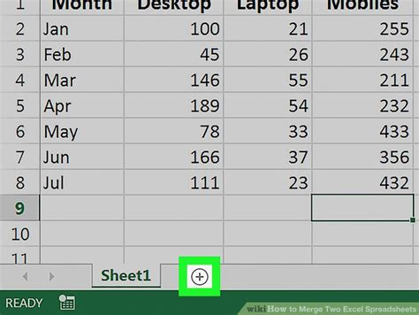 how to merge two excel spreadsheets with