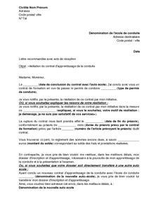 modèle lettre abandon formation exemple gratuit de lettre r 233 siliation contrat formation