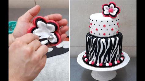 zebra cake   cake decorating  cakes stepbystep