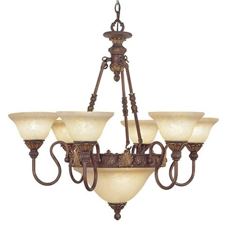 bronze chandelier with accents livex lighting 8 light crackled bronze incandescent