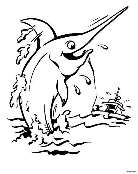 pesce da colorare per bambini pesce spada disegni per bambini da colorare