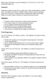 airline pilot resume services professional airline customer service templates to showcase your talent myperfectresume