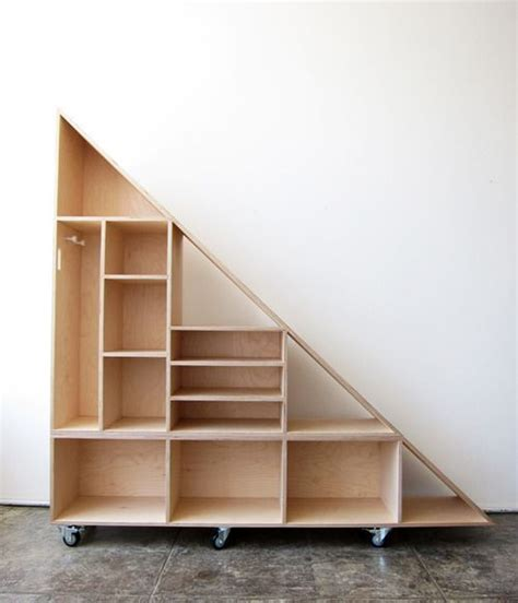 Stairs Shelf Ideas For Book Storage by Triangle Compartment Shelf Diy Shelving Libraries