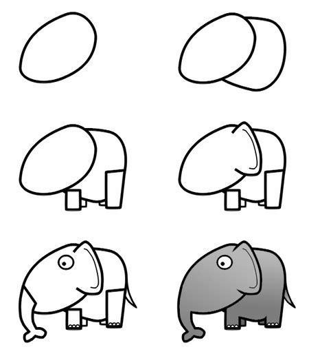 drawing cartoon elephants