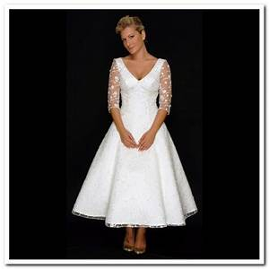 beauties wearing pretty tea length wedding dresses With tea length wedding dresses for older brides