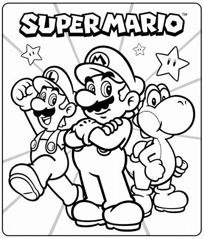 Mario Coloring Super Sheets Pages Sonic Printables