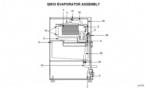 manitowoc qma ice machine parts diagram nt icecom