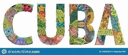 Cuba Word Clipart