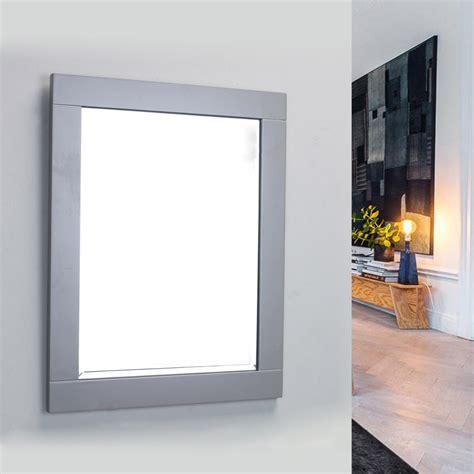 24 Bathroom Mirror by Eviva Aberdeen 24 Quot Grey Framed Bathroom Wall Mirror