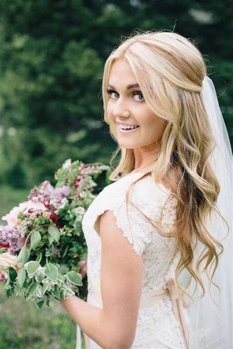 25 Elegant Half Updo Wedding Hairstyles Crazyforus