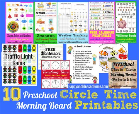 preschool activities circle time morning board happy and 752 | 10 Preschool Circle Time Morning Board Printables HappyandBlessedHome.com