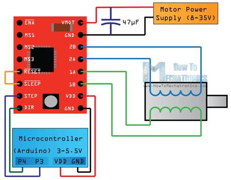 stepper motor driver wiring diagram