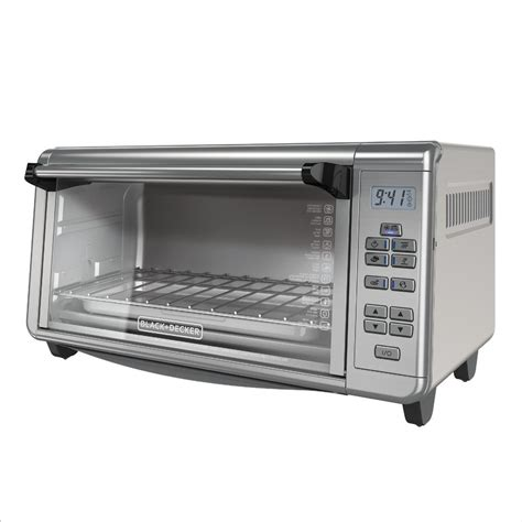 White Digital Toaster Oven by Black Decker 8 Slice Digital Wide Countertop