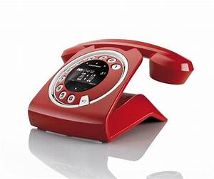 Telefon Schnurlos Retro : grundig sixty rot retro design schnurlos telefon mit ~ Watch28wear.com Haus und Dekorationen