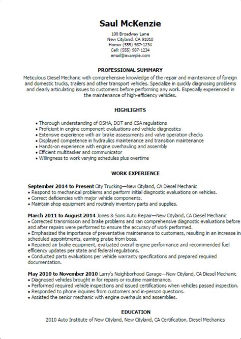 A V Technician Resume Template by Automotive Resume Templates To Impress Any Employer