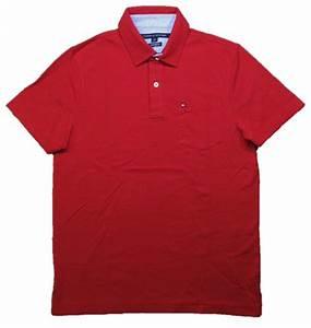 Tommy Hilfiger Mens Polo Shirt Custom Fit Pocket Flag Logo ...