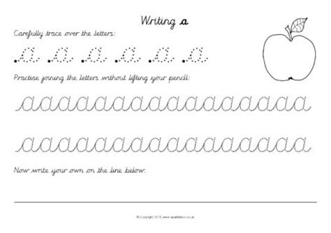 cursive joined alphabet letter writing worksheets