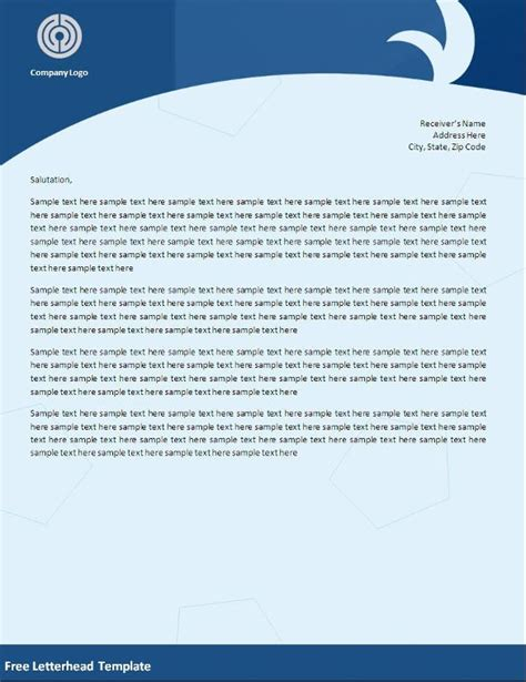 word letterhead templates  samples examples