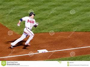 Baseball - Rounding Third, Heading For Home! Editorial ...