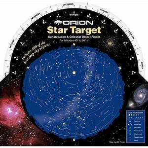 10 Foot Vision Chart Orion Star Target Planisphere 40 60 Degree North