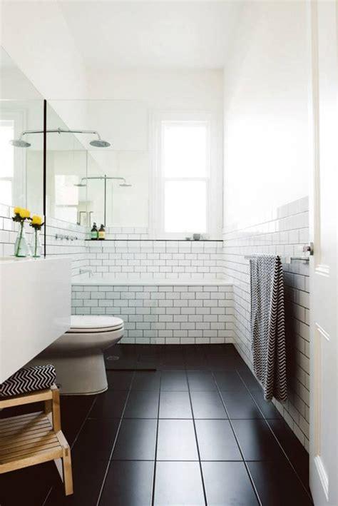 black white subway tile bathroom inspiration