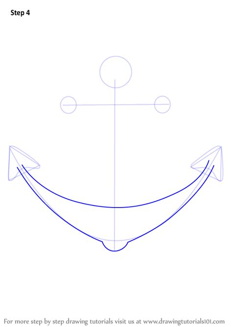 Boat Shape Drawing by Learn How To Draw A Boat Anchor Boats And Ships Step By