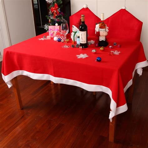 Tisch Eindecken Weihnachten by Tablecloths Chair Cover Set Decoration Table