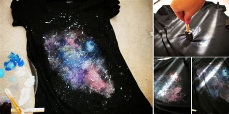 DIY Painted Galaxy T Shirt   Home Design, Garden