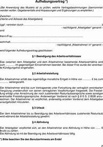 Kündigungsfrist Berechnen Arbeitgeber : muster eines aufhebungsvertrages pdf ~ Themetempest.com Abrechnung