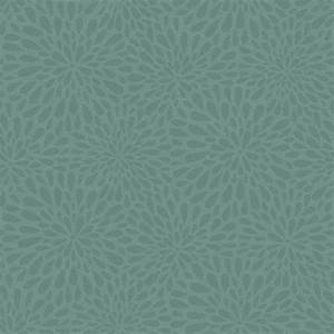 Beacon House Calendula Teal Modern Floral Wallpaper Sample
