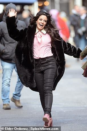 Camila Cabello Braves The Nyc Cold Shoot Commercial