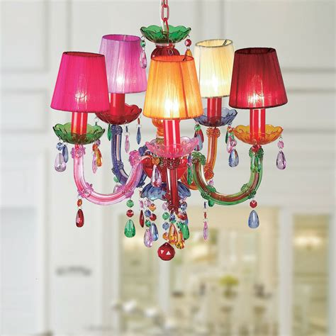colored chandelier eabha 5 light multi colored 36 inch acrylic chandelier ebay