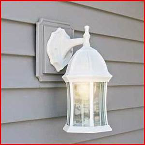 vinyl siding light blocks plantoburocom With mounting outdoor light fixture vinyl siding